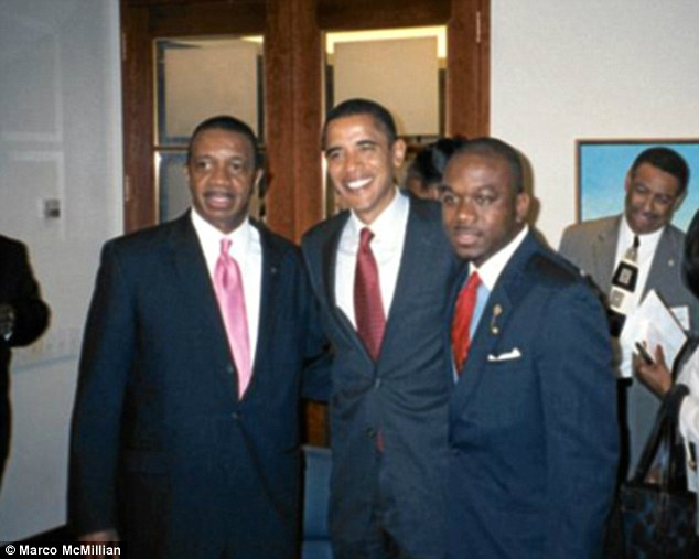 Marco McMillian was running as a democrat candidate for mayor of Clarksdale. Supporters said the politician, pictured right with President Obama, could have gone all the way