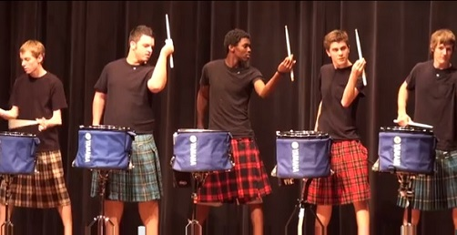 (Watch) Viral: High School Guys Amazing Drum Line Talent Show Performance