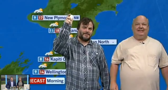 (Watch) Viral: Jack Black Delivers the Weather Forecast for New Zealand TV Station