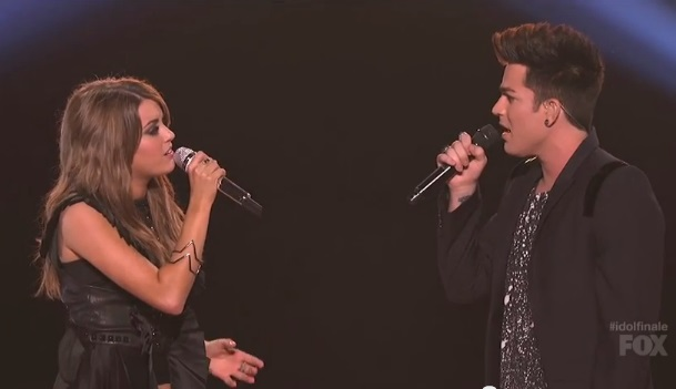 "(Watch) Angie Miller and Adam Lambert's Perform ""Titanium"" On American Idol's Finale"
