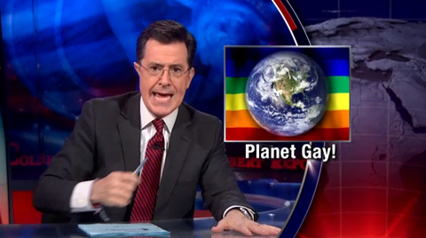 (Watch) Colbert Warns That Gay's Will Takeover the Planet