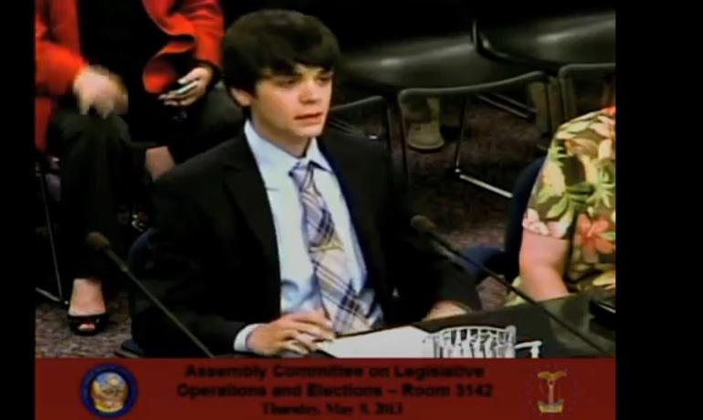 (Watch) 18-year-old Riley Roberts Delivers Emotional Testimony on Behalf Of His Two Moms