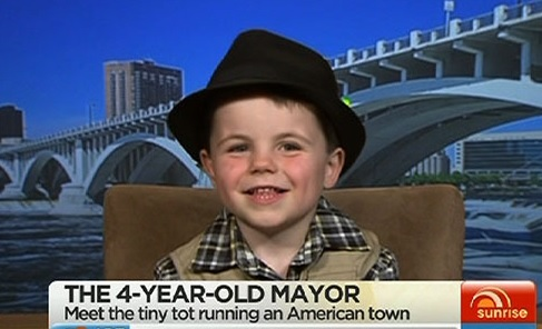(Watch) Viral: Meet 4-Year-old Robert Tufts, America's Youngest Mayor!