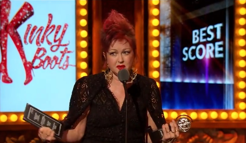 Cyndi lauper 39 s 39 kinky boots 39 wins big at tony awards video for Kinky boots cyndi lauper