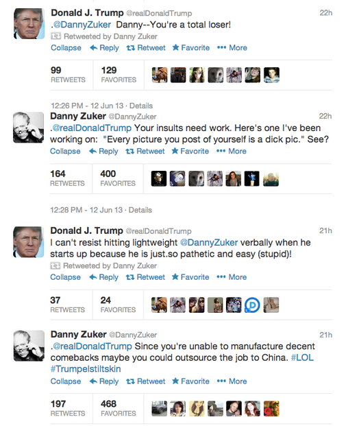 donald trump twitter feud with modern family