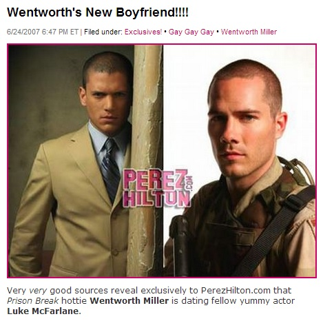is recently out �prison break� star wentworth miller