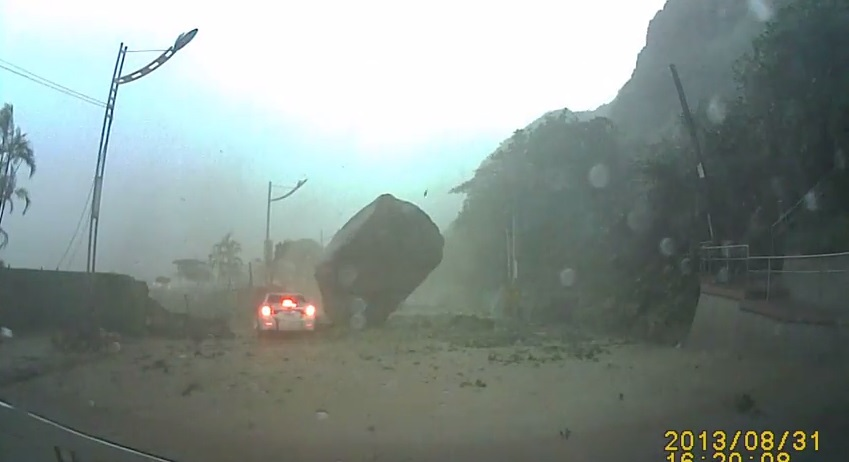 Taiwan Mudslide Near-Death Experience Caught On Video
