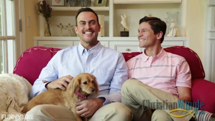 "Watch Funny Or Die's  ""The Gay Christian Mingle"" (Video)"