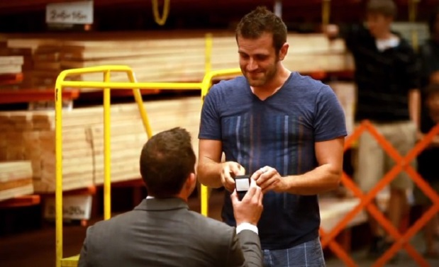 Watch: Gay Couple's Home Depot Flash Mob Engagement In Utah (Video)
