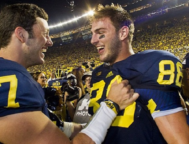 Gaily Stud: Michigan Tight End Football Player Jake Butt Has Best Fitting Name Ever!
