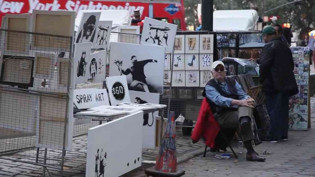 World-Famous Street Artist Banksy Holds $60 Art Sale In New York CIty; No One Notices (Video)
