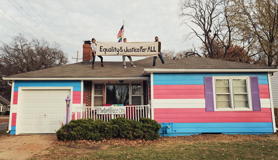 Rainbow 'Equality House' Repainted To Honor Transgender Day Of Remembrance