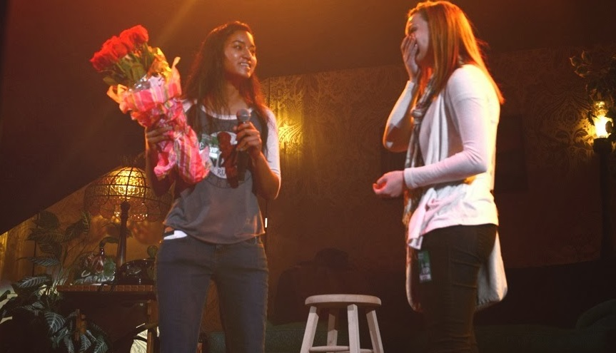McKyna Invites Her Girlfriend Chelsie To Homecoming On Stage At Macklemore Concert (Video)