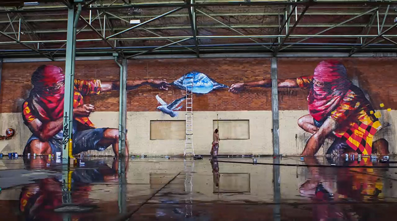 Watch This Spectacular Time-Lapse Graffiti Video By Sofles