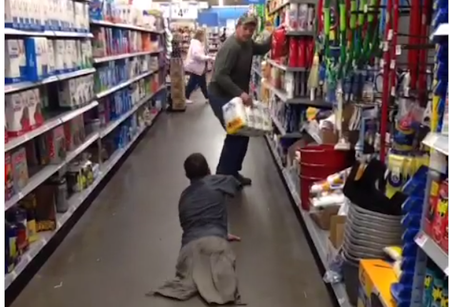 Triple Amputee Terrorizes Walmart Shoppers With Zombie Prank