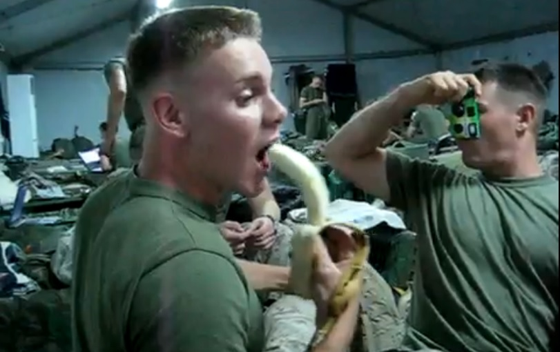 Hot Soldiers Deepthroating Bananas Seems To Be A Thing Now (Video)