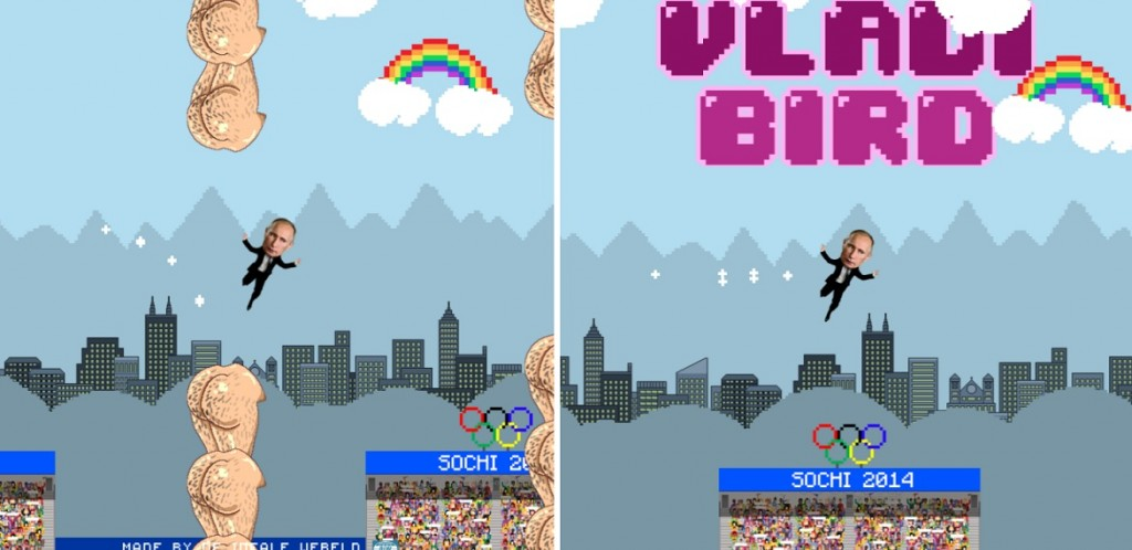 Someone Has Created An Online Version Of Flappy Bird Where Vladimir Putin Avoids Hairy Man Butts