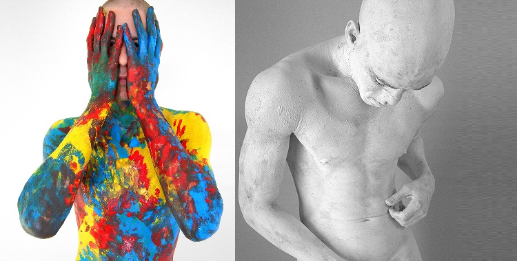 Watch: Artist Strips Down Army Boy Then Paints His Entire Body For Art Project [NSFW]