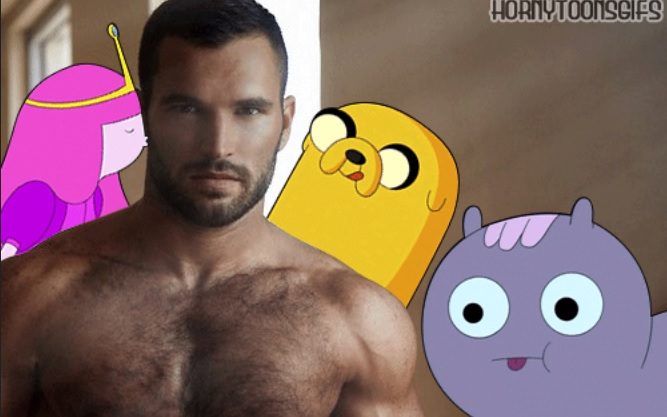 Horny Cartoon Characters Humping Sexy Shirtless Models Is The Best Tumblr Ever [NSFW]