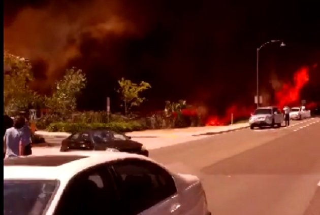 Driving Through A Neighborhood Turned Into A Raging Inferno By San Diego Fire [Video]