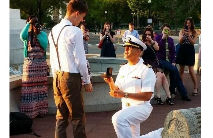 This Gay Military Couple's Marriage Proposal Will Make Your Week!