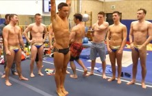 Behind The Scenes With Tom Daley & Dive Team 'Warming Up'; Tom Gets Full-Body Rubdown