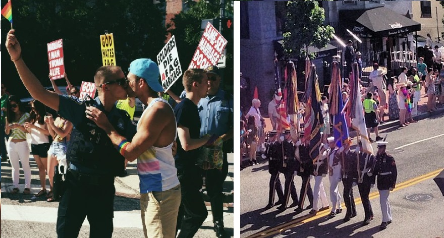 Cop's Gay Kiss Pisses Off Westboro Church & U.S. Military Color Guard Makes History At D.C. Pride Parade