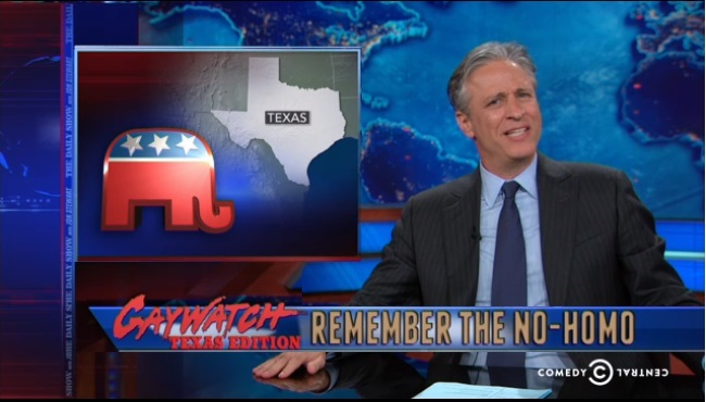 from Salvatore daily show jon stewart homosexual gay therapy