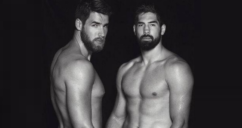 Famous French Athlete Brothers Pose Semi-Nude Together For Erotic Calendar