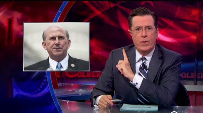Colbert Destroys Republican Congressman Worried Gays In Military Give Too Many Massages
