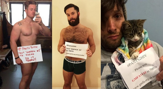 Men Strip Down For Viral #Pants2HIV Charity Campaign