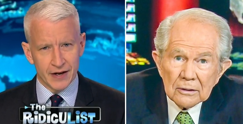 Anderson Cooper Rips Apart Pat Robertson After His 'Towels Have AIDS' Warning