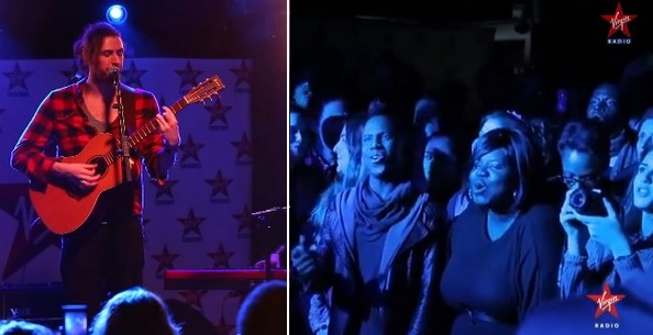 "20-Person Choir Surprises Hozier During ""Take Me To Church"" Live Performance"