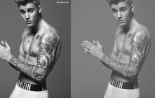 Justin Bieber Threatens Suit Over Photoshopped Photos, Says He's Packing