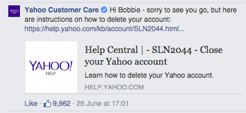 how to delete facebook account permanently immediately yahoo answers