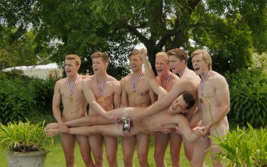 Here's a sneak peek of our favourite naked rowers calendar