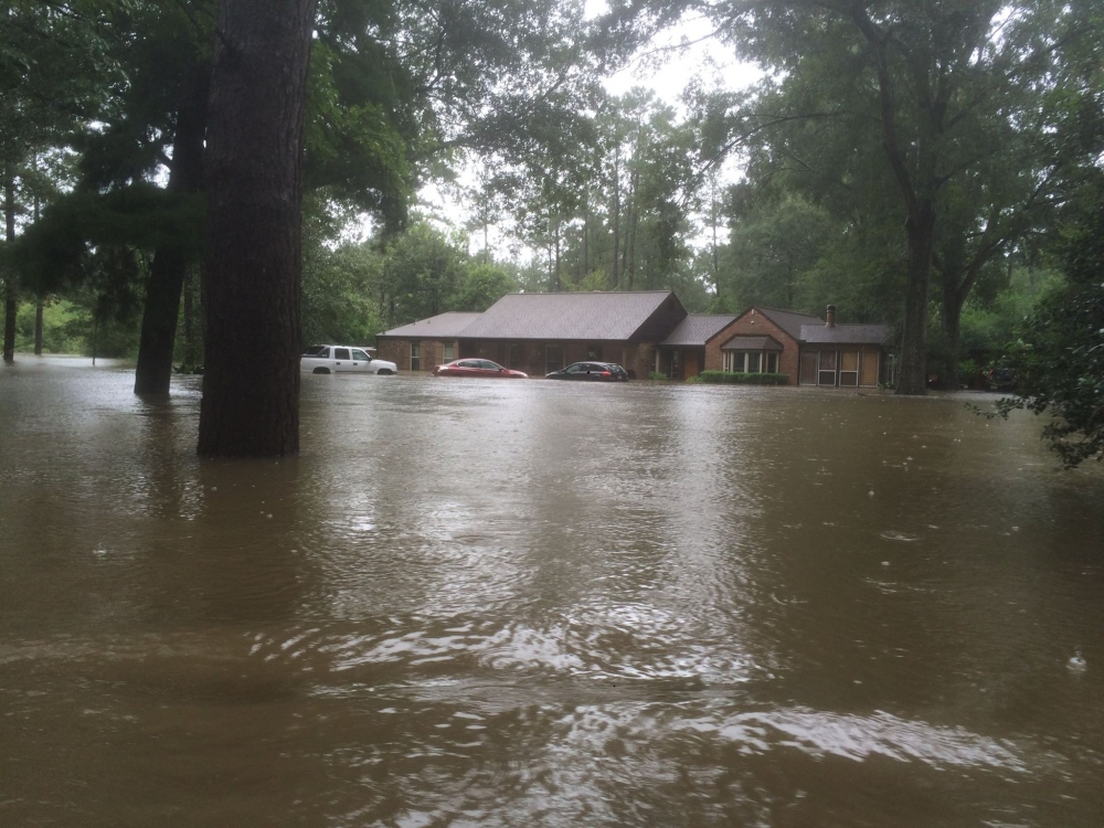 A picture of FRC President Tony Perkins' flood damaged home.