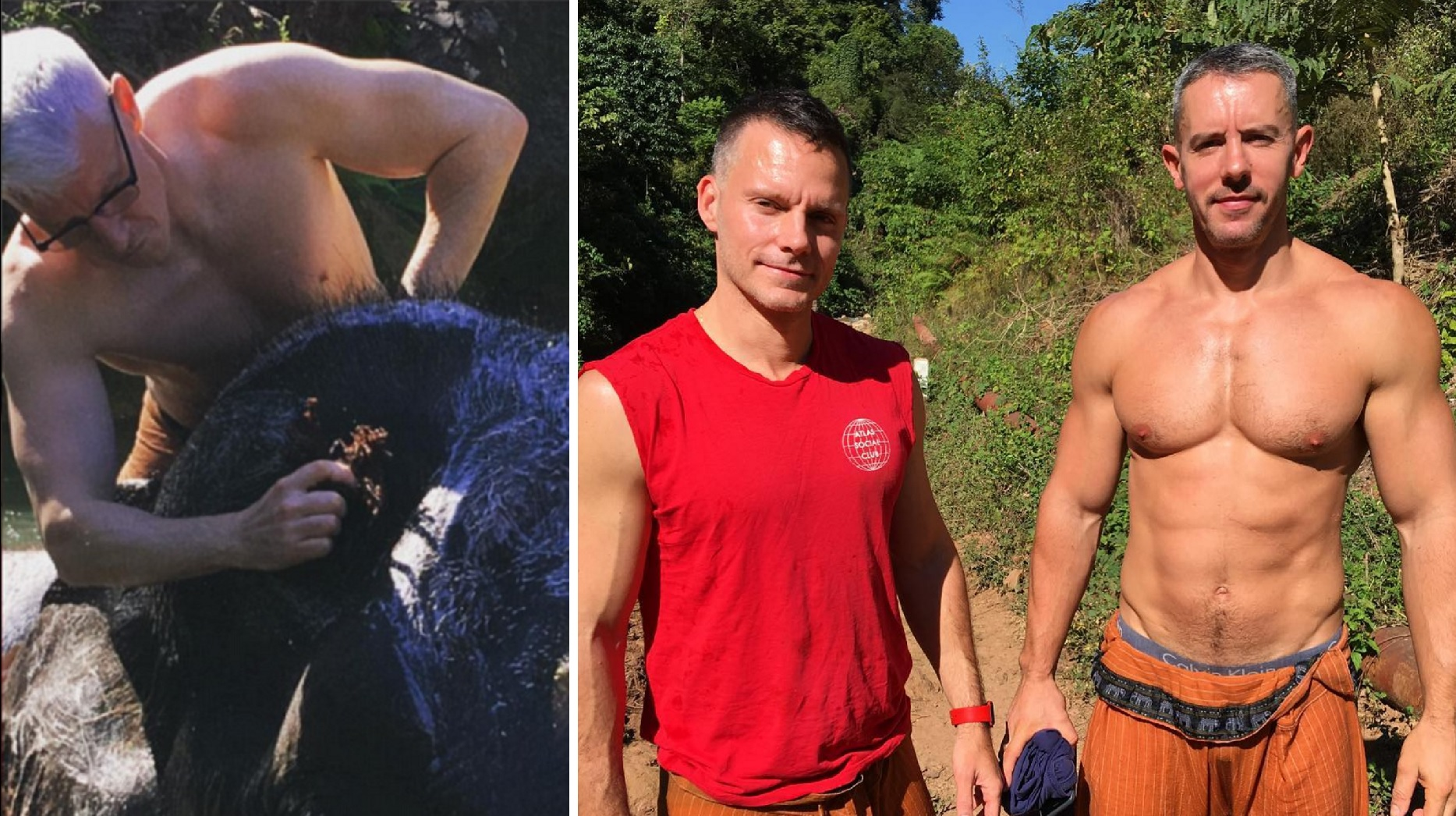 Anderson Cooper Nude Pics anderson cooper strips down to wash rescued elephants, shows