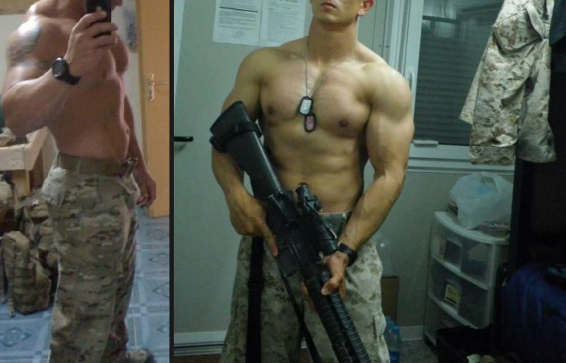 Naked men gay porn military
