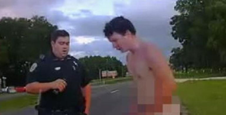 Video: Naked Florida man accused of damaging, urinating on
