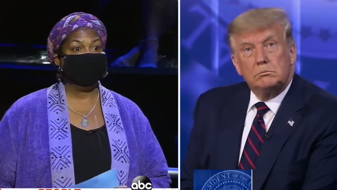 Black Voter Slams Trump For Interrupting Her: 'Please Stop And Let Me Finish My Question, Sir!'